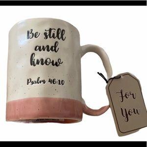 """🆕FAITH MUG """"BE STILL & KNOW"""" Psalms46:10"""